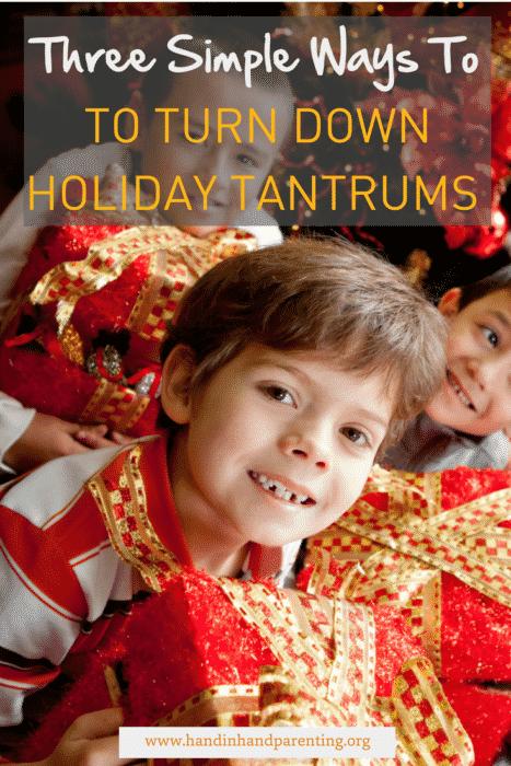 Parenting, holidays, tantrums, stress