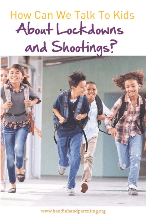 kids running down school hall